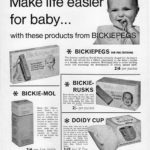 Bickiepegs Advertising from 1967