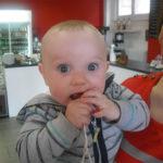 Baby using Bickiepegs