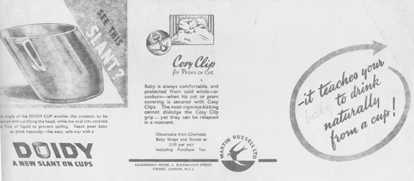 Doidy Cup Press ad C 1950's