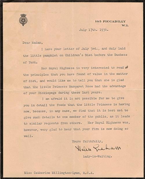 Royal Letter 13 July 1936