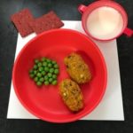 Doidy bowl with sweet potato croquettes